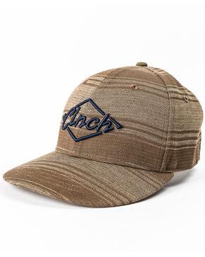 Cinch Men's Brown Stripe 3D Logo Adjustable Cap, Brown, hi-res