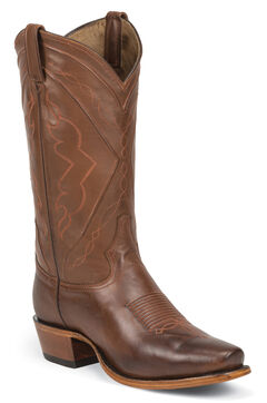 Tony Lama Men's Tan Ranch Jersey El Paso Cowboy Boots - Square Toe, Tan, hi-res