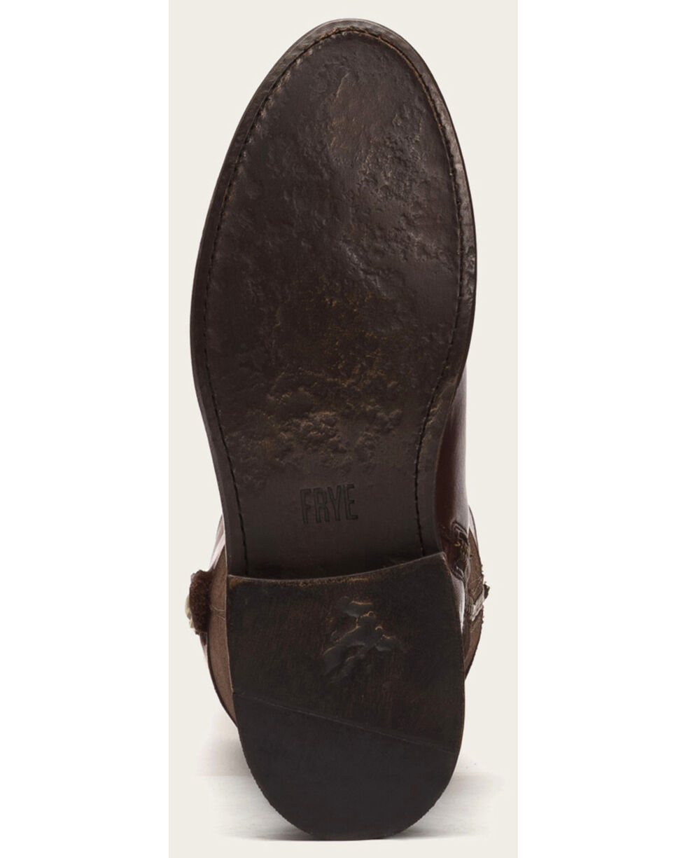 Frye Women's Chocolate Suede Jayden Button Tall Boots - Round Toe , Chocolate, hi-res