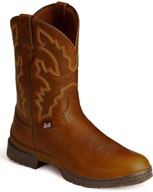 Justin Men's George Strait 3.1 Roper Boots - Round Toe, Sunset, hi-res