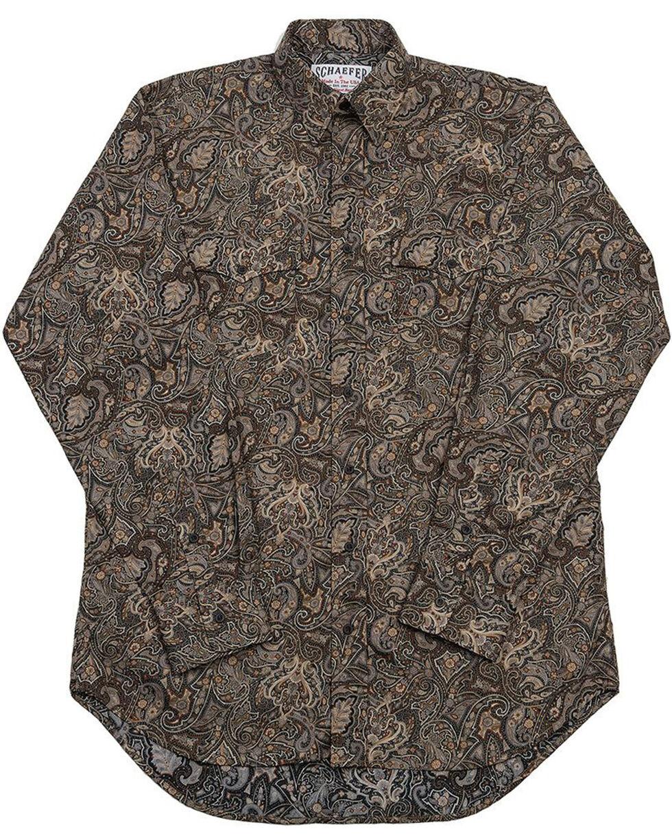 Schaefer Outfitter Men's Black Frontier Paisley Western Button Shirt , Black, hi-res