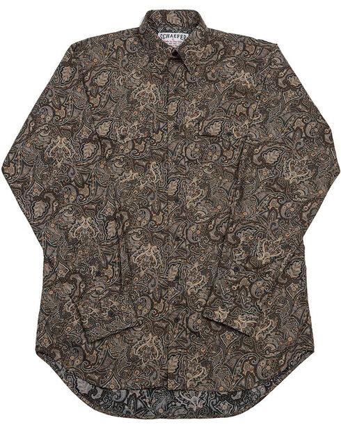 Schaefer Outfitter Men's Black Frontier Paisley Western Button Shirt - Big 2X, Black, hi-res
