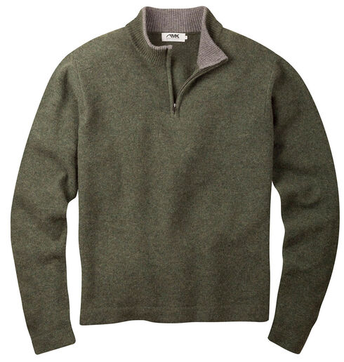 Mountain Khakis Men's Mossy Green Lodge Crewneck Sweater , Loden, hi-res