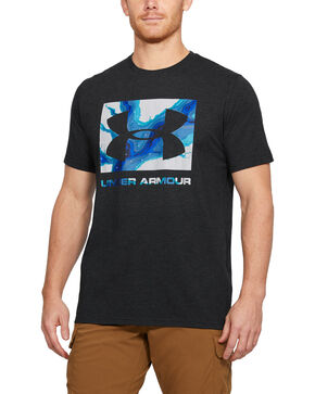 Under Armour Camo Knockout Logo Tee, Black, hi-res