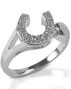 Kelly Herd Women's Offset Horseshoe Ring , Silver, hi-res