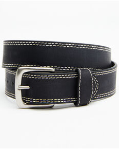 Hawx® Men's Double Contrast Stitch Work Belt, Black, hi-res