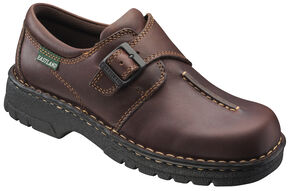 Eastland Women's Brown Syracuse Slip-Ons, Brown, hi-res