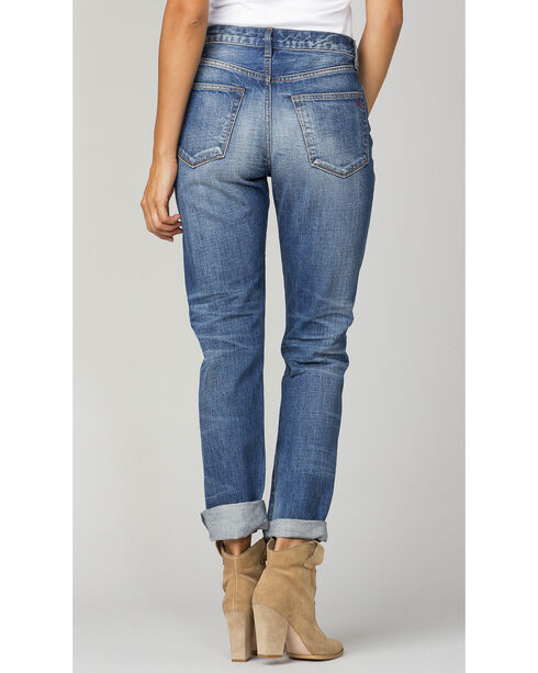 MM Vintage Women's Indigo Ella Boyfriend Jeans - Ankle Cuff, Indigo, hi-res