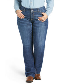 Ariat Women's Liliana Bootcut Jeans - Plus, Blue, hi-res