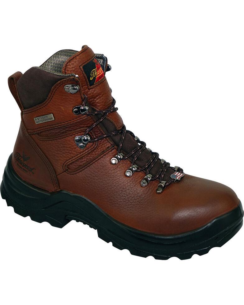 """Thorogood Men's American Heritage 6"""" MAXwear 90 Waterproof Work Boots - Steel Toe, Brown, hi-res"""