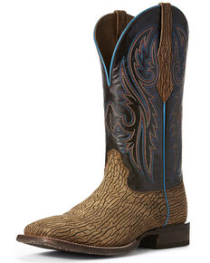 Ariat Men's Circuit Puncher Western Boots - Wide Square Toe, Chocolate, hi-res