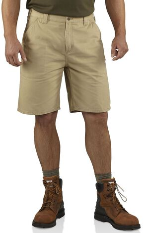 Carhartt Washed Twill Dungaree Shorts, Khaki, hi-res