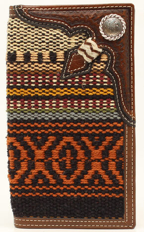 Nocona Fabric Rawhide Knot Concho Rodeo, Multi, hi-res