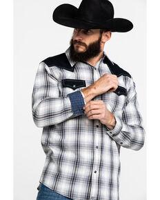 Moonshine Spirit Men's 1977 Plaid Contrast Yolk Long Sleeve Western Shirt , Blue, hi-res