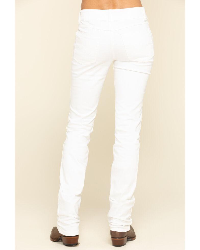 Wrangler Women's White Straight Jeans, Blue, hi-res