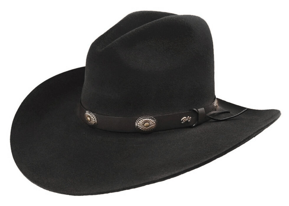 Bailey Men s Tombstone Black Western Hat  de62c4e32dfa