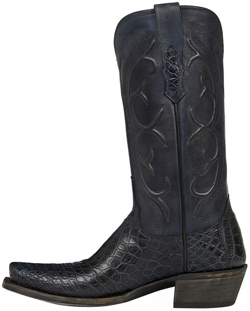 Lucchese Handmade Dark Grey Van Giant Gator Cowboy Boots - Square Toe  , Dark Grey, hi-res
