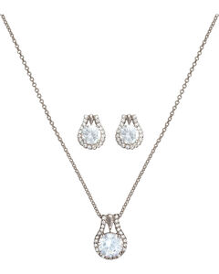 Montana Silversmiths Star Lights Center of My Universe Jewelry Set, Silver, hi-res