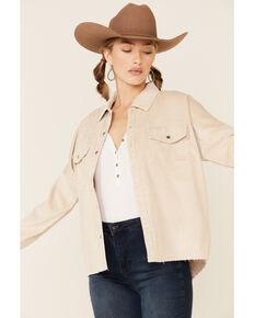 Velvet Heart Women's Corduroy Snap Shirt Jacket , Ivory, hi-res