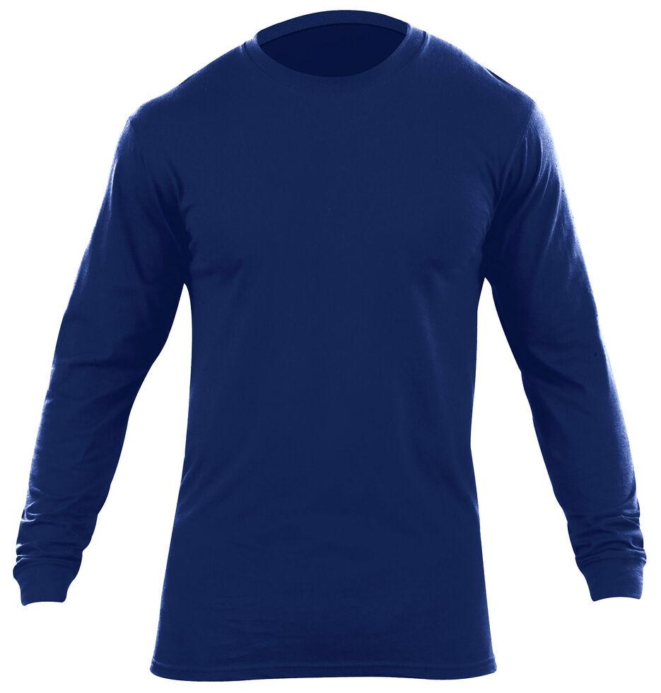 5.11 Tactical Men's Utili-T Long Sleeve Crew Shirts 2 Pack - 3XL, Navy, hi-res
