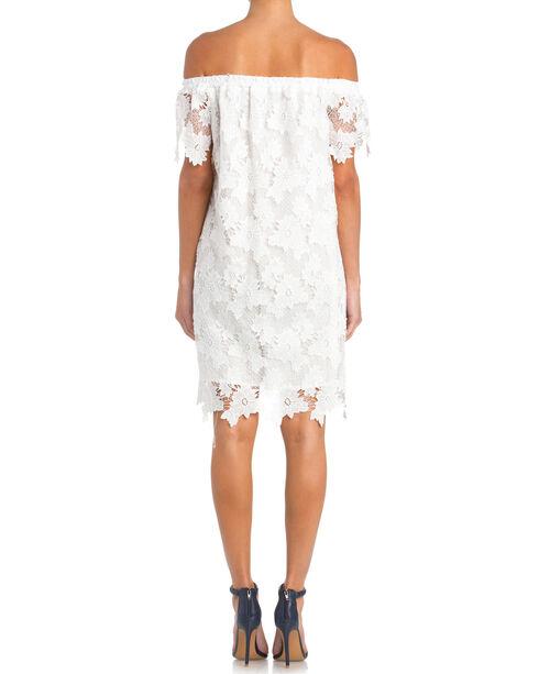 Miss Me Off the Shoulder Lace Dress, White, hi-res