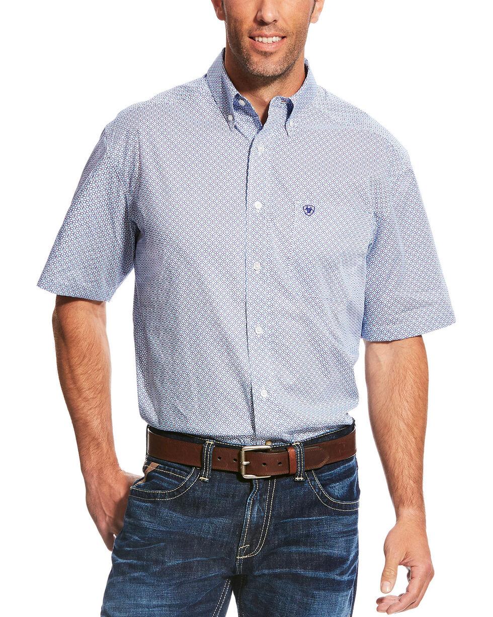 Ariat Men's Casual Series Myers Print Short Sleeve Button Down Shirt, Multi, hi-res