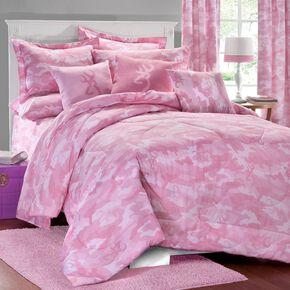 Browning Pink Buckcamo Full Comforter Set, Pink, hi-res