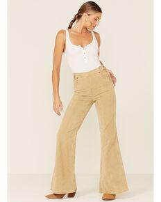 Lee Women's Tan Corduroy High Rise Flare Jeans, Tan, hi-res