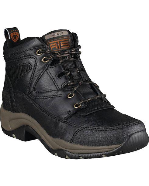 Ariat Women's Terrain Boots - Round Toe, Black, hi-res