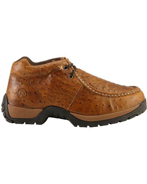 Roper Nubuck Ostrich Print Ankle Boots, Brown, hi-res