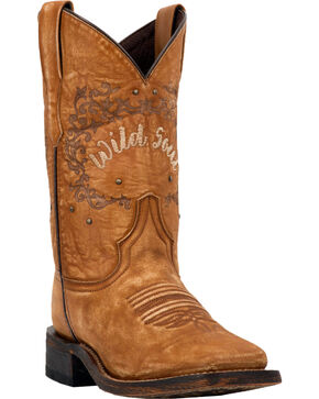 Laredo Women's Fierce Tan Wild Soul Cowgirl Boots - Square Toe, Tan, hi-res