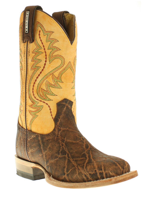 Cinch® Youth Boys' Elephant Print Boots - Square Toe, Rust, hi-res
