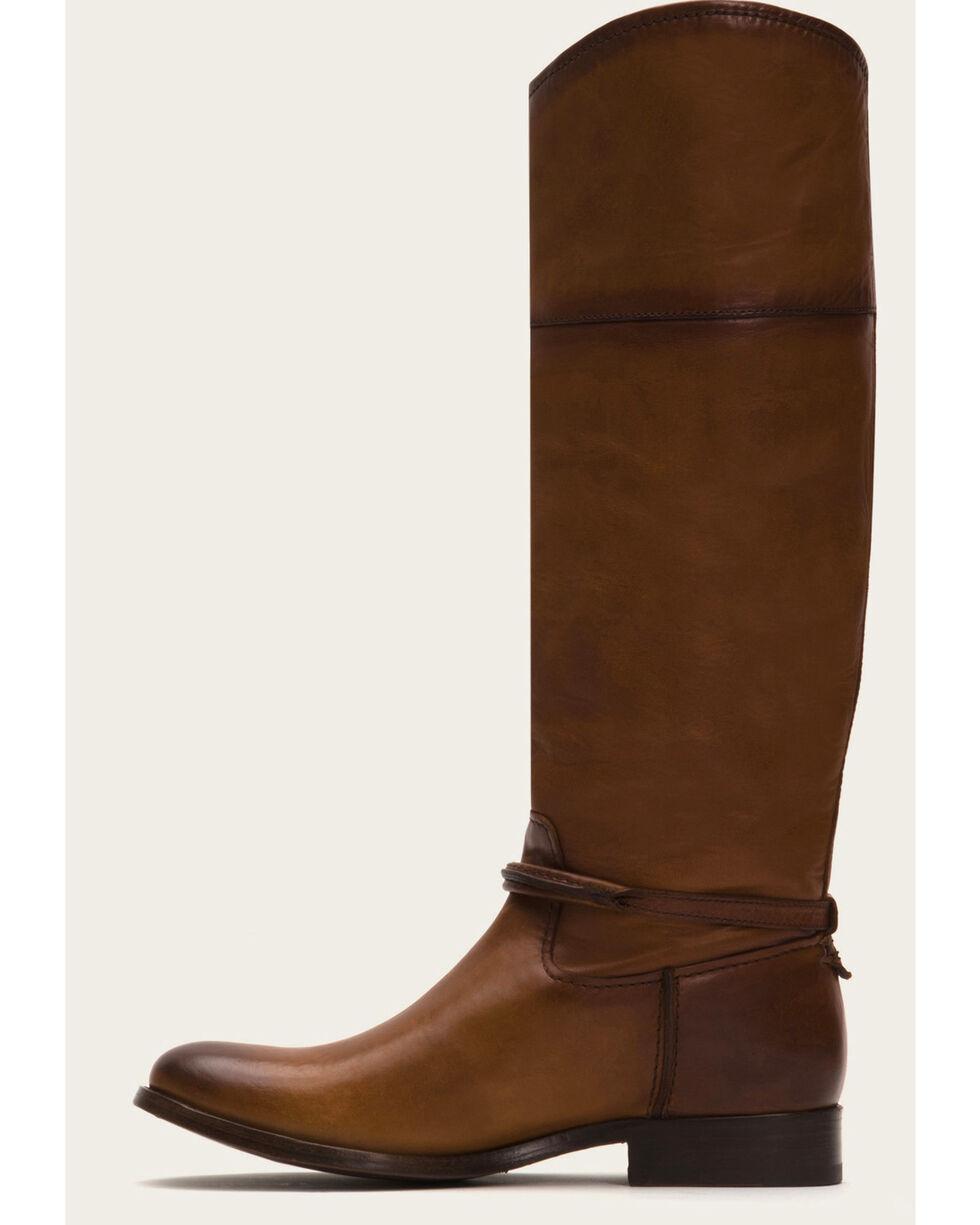 Frye Women's Cognac Melissa Seam Tall Boots - Round Toe , Cognac, hi-res
