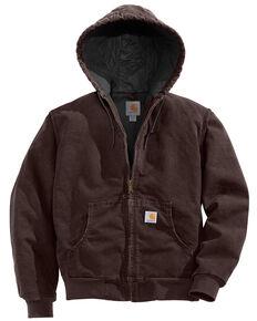 Carhartt Women's Active Duck Quilted Work Jacket, Brown, hi-res