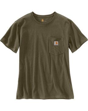 Carhartt Women's Workwear Pocket T-Shirt, Green, hi-res