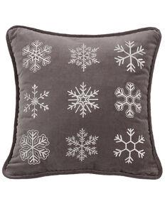 HiEnd Accents Whistler Snowflake Throw Pillow, Multi, hi-res
