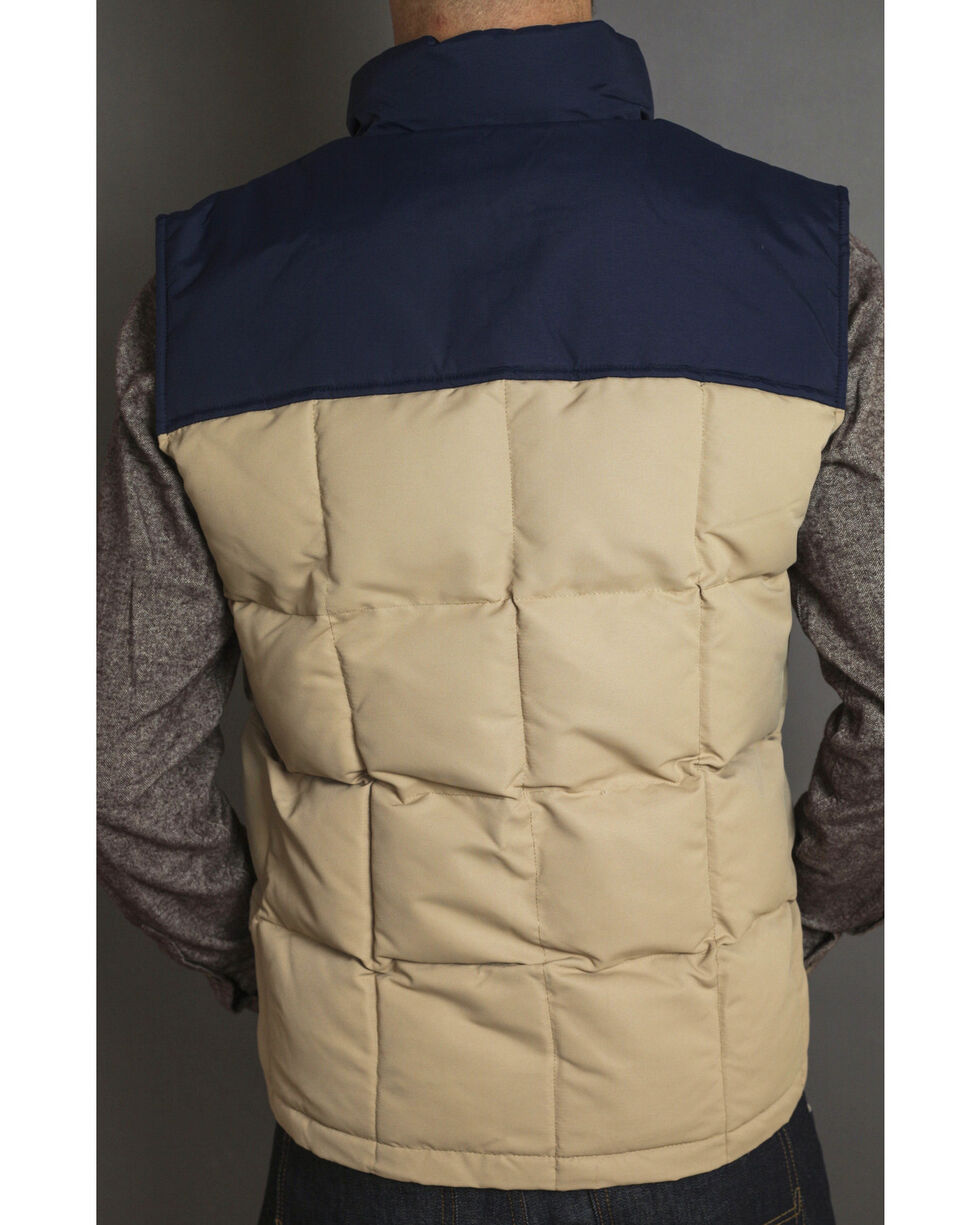 Kimes Ranch Men's Colt Two Tone Puffer Vest, Tan, hi-res