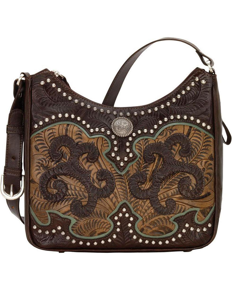 American West Women's Hand Tooled Concealed Carry Shoulder Bag, , hi-res