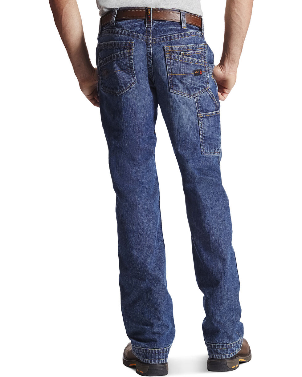 Ariat Men's Flame-Resistant M4 Workhorse Bootcut Work Jeans, Denim, hi-res