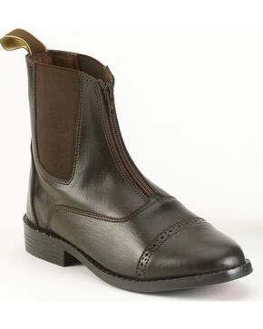 EquiStar Women's Zip Paddock Boots, Brown, hi-res