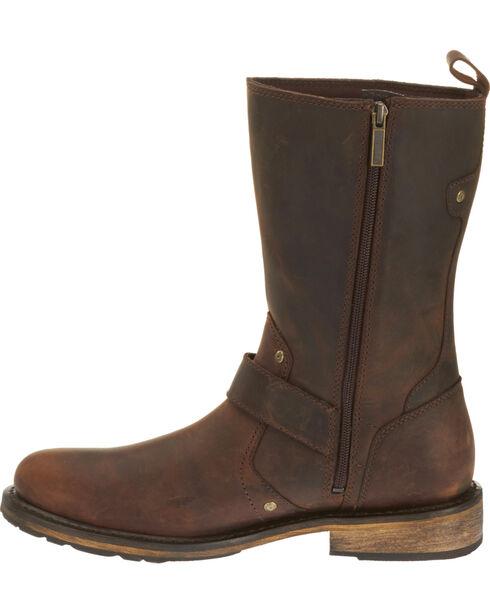 Harley Davidson Men's Brown Brendan Leather Boots - Round Toe , , hi-res