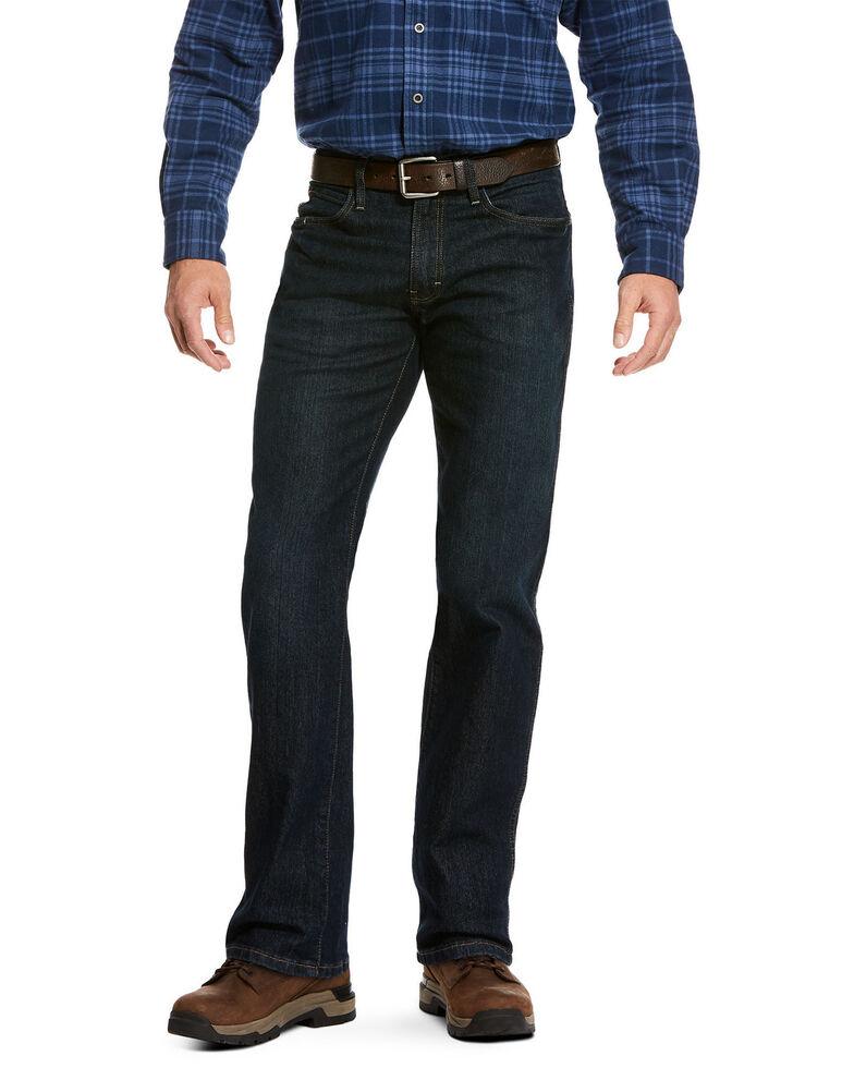 Ariat Men's Rebar M4 Blackstone Durastretch Basic Stackable Straight Work Jeans , Blue, hi-res