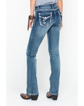 Grace In LA Women's Easy Medium Mid Boot Jeans , Blue, hi-res