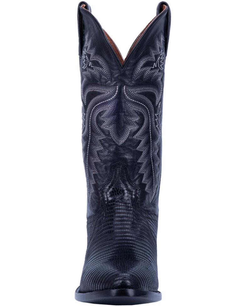 Dan Post Men's Winston Lizard Western Boots - Round Toe, Black, hi-res
