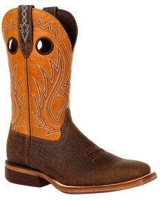 Durango Men's Arena Pro Acorn Western Boots - Square Toe, Tan, hi-res