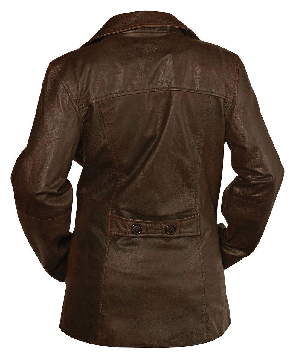 STS Ranchwear Women's Selah Brown Leather Jacket, Brown, hi-res