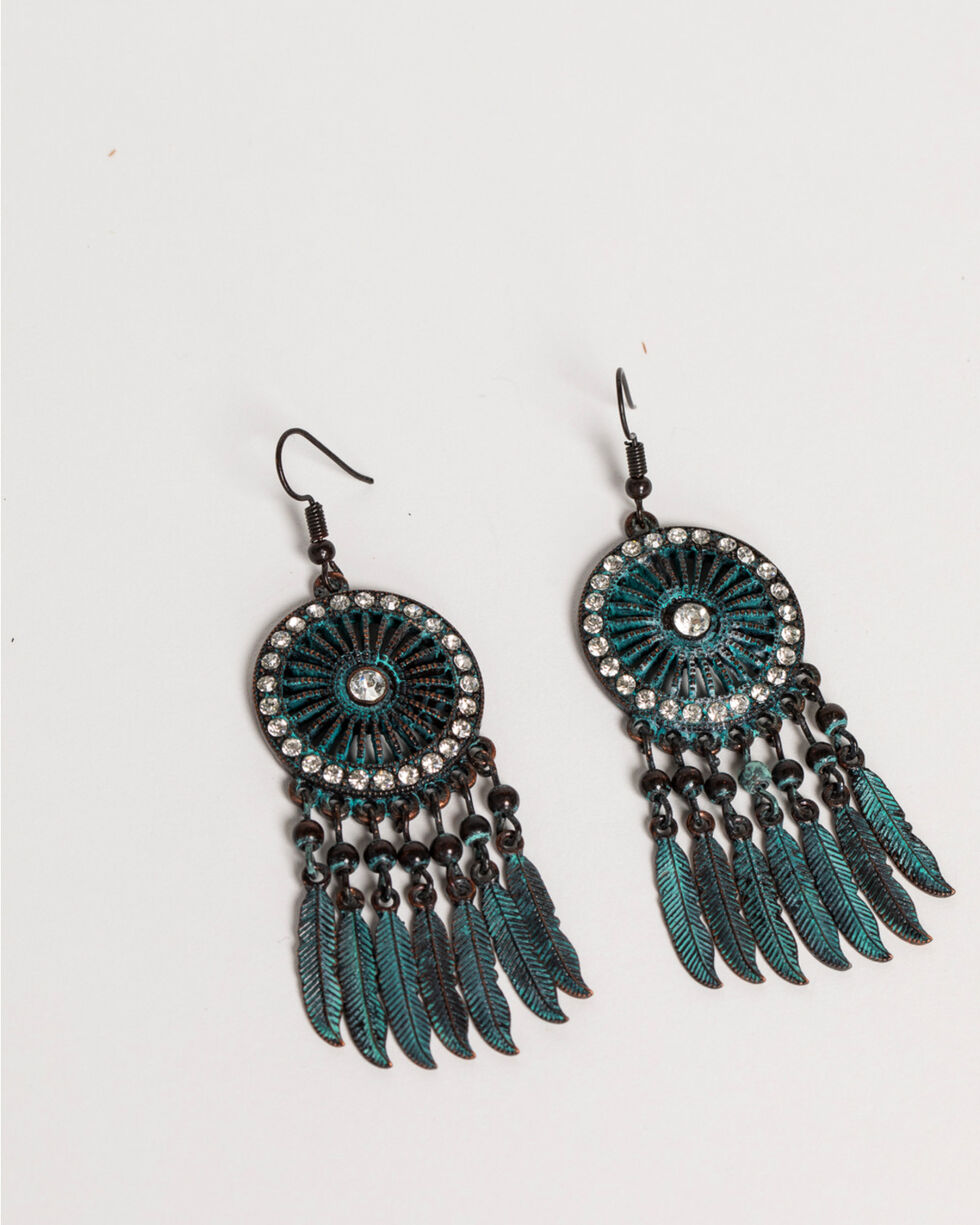 Shyanne Women's Odessa Dream Catcher Earrings, Turquoise, hi-res
