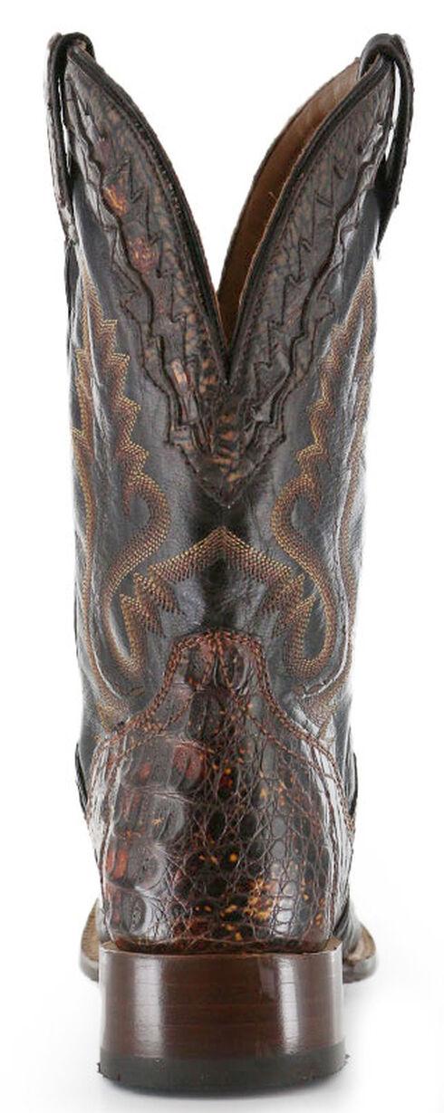 El Dorado Caiman Cowboy Boots - Square Toe, Suntan, hi-res