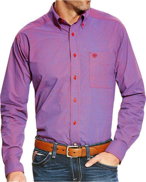 Ariat Men's Berclair Fitted Poplin Print Button Down Shirt, Multi, hi-res