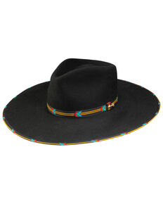Stetson Women's Black Wildcard Wool Felt Western Hat , Black, hi-res